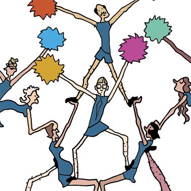 Illustratie over samenwerken